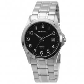 Prisma Heren Horloge Van All Stainless Steel + Saffierglas