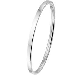 Vlakke Buis Bangle armband voor Dames van Zilver