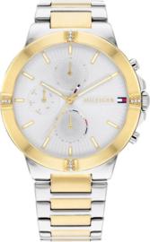 Tommy Hilfiger Goudkleurig Dames Horloge met Milanese Schakelband