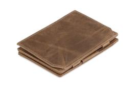 Geborsteld Bruine Magic Coin Wallet Portemonnee van Essenziale Garzini