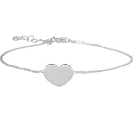 Hart armband van zilver