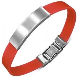 Rood graveer armband / Armband inkorten mogelijk