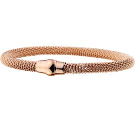 Roségoudkleurige Edelstalen Armband voor Dames - Armband Magneet