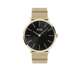 Hugo Boss Horloge Horizon Goudkleurig Horloge met Milanese Band van Boss