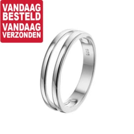 Ring van Gerhodineerd Zilver / Ringmaat 16,5