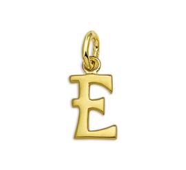 Gouden Letter Bedel Hanger – E