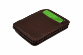 Luxe Bruine Magic Wallet RFID Portemonnee van Hunterson