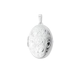 Decoratief Foto Medaillon van Gepolijst Zilver 10.15507