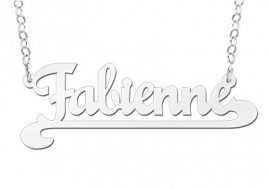 Names4ever Fabienne Stijl Zilveren Naamketting