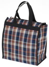 Bruine Checker Shopping Tas van Davidts