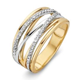 Excellent Jewelry Bicolor Creatieve Dames Ring met Briljanten