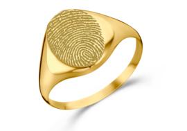 Gouden Zegelring Ovaal met Vingerafdruk | Names4ever