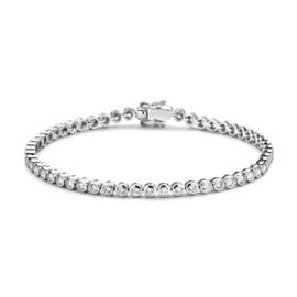 Excellent Jewelry Witgouden Armband met Ronde 2,00 crt. Briljanten Plaatjes