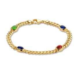 Excellent Jewelry Geelgouden Armband met Gekleurde Edelstenen
