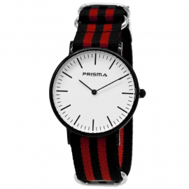 Prisma Horloge - Canvas band 1622.24WG