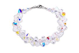 Bicone Armband van Zilver met Gekleurde Swarovski Kristallen