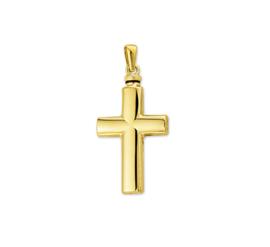 Kruisvormige Urn Hanger van Gepolijst Geelgoud