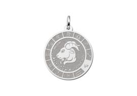Zilveren Steenbok Sterrenbeeld Bedel met Naam ZHS094 | Names4ever