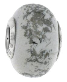 iMenso keramiek bedel in wit-met-zilverkleur 42/118-TB