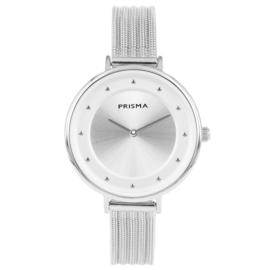 Robuust Zilverkleurig Dames Horloge van Prisma
