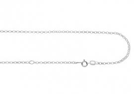 Names4ever Zilveren ketting | Lengte: 45-50cm
