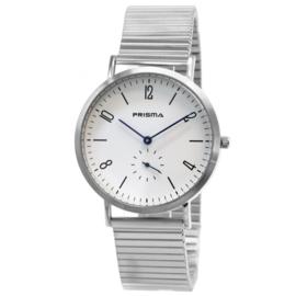 Zilverkleurig Licht Edelstalen Heren Horloge met Stijlvolle Rekband