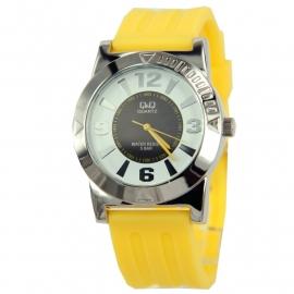 Trendy Q&Q Horloge met geel horlogeband