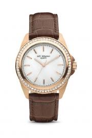Compleet MY iMenso Quartz Horloge Roségoudkleurig + Leren band