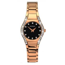 Roségoudkleurig Dames Horloge van Sekonda met Sierdiamanten
