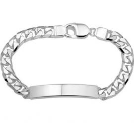 Robuuste Graveer Armband van Zilver 20cm