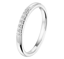 Zilveren Ring met Prachtige Zirkonia