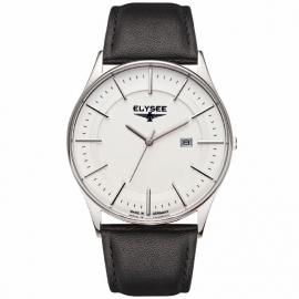 Elysee Heren Horloge Diomedes II / Zwart leren band