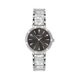 Sekonda Rond Zilverkleurig SEKSY Dames Horloge met Zirkonia's