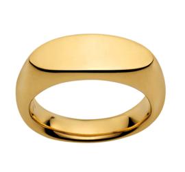 Slanke Goudkleurige Bolstaande Ring van Edelstaal van M&M