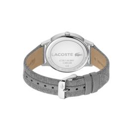 Lacoste Zilverkleurig Madrid Heren Horloge met Textiel Horlogeband