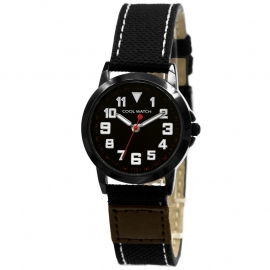 Cool Watch CW.245 Jongens Horloge Canvas Jort Black