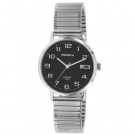Prisma Horloge 1752 Heren Edelstaal Rekband met Datum