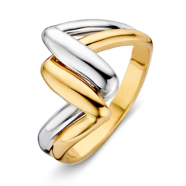 Excellent Jewelry Bicolor Abstracte Ring