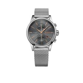 Hugo Boss Horloge Jet Zilverkleurig Horloge met Donkergrijze Wijzerplaat van Boss