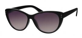 Zwarte Dames Zonnebril met Paarse Glazen