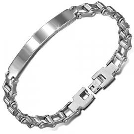 Steel naamplaat graveer armband 22,0 cm