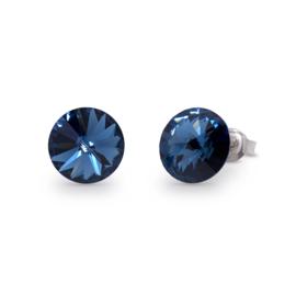 Candy Oorstekers met Donkerblauw Swarovski Kristal