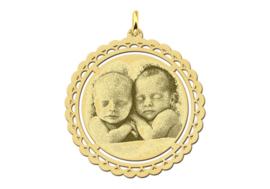 Gouden Fotogravure Hanger met Decoratieve Rand van Names4ever