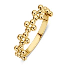Excellent Jewelry Geelgouden Ring met Bolletjes Decoratie