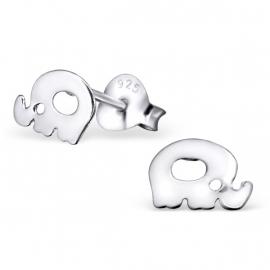 Olifant Kinderoorbellen van Zilver