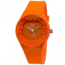Q&Q oranje kunststof horloge