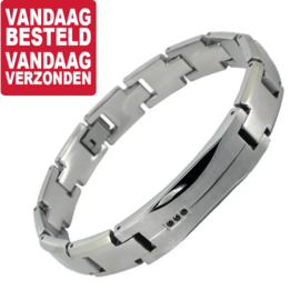 Armband voor Mannen » Steel & Stones Bracelet - Graveer sieraad