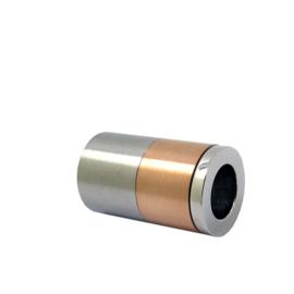 Rosé goudkleurige Steel Triple Roller bedel