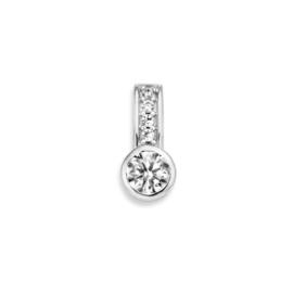 Excellent Jewelry Zirkonia Hanger van Witgoud