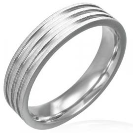 Zilverkleurig ring / Graveer ring SKU31475